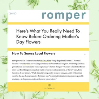 "Whoop! 🙌 ⁠⁠ ⁠⁠ Many thanks to @romper for including @theflowry in your Mother's Day flower roundup, along with Bloomlisters @wild_vine_floral in Austin, TX & @flower.church in Detroit, MI.⁠⁠ ⁠⁠ Here's what we know... let us know if you agree in the comments below 👇🏻⁠⁠ ⁠⁠ As a startup, you never feel ready to go ""live."" But if you don't go for it, you also never know. 🤷‍♀️ ⁠⁠ ⁠⁠ A dear friend & colleague @samanthaslavenpr sent us this lead. A lifelong publicist, we know how to pitch a story - albeit never for ourselves - always for clients.⁠ The euphoria that comes from landing a story is unlike anything. It's also typically followed by ""oh fuck,"" what now? ⁠⁠ ⁠⁠ The truth is: We have A LOT of work to do to shift consumer mindset to - like food - local flowers. 🌸  It starts with this community, with folks like...⁠⁠ ⁠⁠ 🌼 @localcolorflowers in Baltimore, MD⁠⁠ 🌼 @labellumflowers in Bozeman, MT⁠⁠ 🌼⁠ @mollyoliverflowers in Brooklyn, NY⁠⁠ ⁠🌼⁠ @flowersfordreams in Chicago, Detroit & Milwaukee⁠⁠ ⁠🌼⁠ @willarosefloral in Detroit, MI⁠⁠ 🌼⁠ @littleacreflowers in DC⁠⁠ 🌼⁠ @themonkeyflowergroup in Napa, CA⁠⁠ ⁠🌼⁠ @pistil_and_stamen in NOLA⁠⁠ ⁠🌼⁠ @bwpfloral in NYC⁠⁠ ⁠🌼⁠ @gorgeousandgreen in Oakland, CA⁠⁠ ⁠🌼⁠ @flowercasita in Petaluma, CA⁠⁠ ⁠🌼⁠ @colortheorydesignco in Portland, OR⁠⁠ ⁠🌼⁠ @photosynthesisflorals in Richmond, VA⁠⁠ ⁠🌼⁠ @papillon in Santa Rosa, CA⁠⁠ ⁠🌼 @urbanbuds in St. Louis, MO⁠⁠ ⁠⁠ Sourcing 💯 locally isn't easy, especially during winter. And sourcing 💯 American isn't cheaper. But the trickle down effect is endless: for the environment, the economy, the flower itself & for its recipients. And intentionality is a step in the right direction - even if not 💯. ⁠⁠ ⁠⁠ Let's start asking where our flowers come from. 🌍 ⁠And let's support the flower shops & floral designers prioritizing American grown blooms in season & sustainable business practices. ⁠⁠ ⁠⁠ Hope you'll shop The Bloomlist for your next flower giving occasion. Psst. Mother's Day is around the corner. ⁠💐 ⁠⁠ ⁠⁠⁠ FOLLOW @theflowry for best in bloomcraft for people, spaces and occasions. ⁠⁠ ⁠⁠ #mondaymotivation #onthebloomlist #shoplocal #localflowers #seasonalflowers #springflowers #americangrownflowers #mothersday"