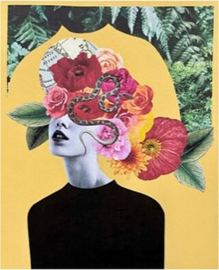 You know what Art We Heart ❤️ ?  The Vermont-based artist behind @lovemadcollage, albeit somewhat stealth, they do give us insight into how the negative impacts of anxiety, depression and chronic pain can be a positive stimulus for the creative!   Born in Madrid and currently living in Vermont, the artist funnels energy into creating emotional, graphic prints that feature florals in unique and wonderful ways, all thanks to the power of discarded cardboard boxes, scissors, markers, glue, and the power of imagination.  Go ahead and give 'em a follow @lovemadcollage .  The Flowry connects flower lovers to seasonal floristry & sustainable design. Plus, a curated marketplace of floral fashion, home decor, art, gifts and more.   Visit our website (link in bio) for your next floral gifting occasion.  #repost #lovemadcollage #art #arte #artwork #contemporaryart #modernart #artwork #mixedmedia #cutandpaste #illustration #painting #photography #drawing #draw #design #creative #artforsale #artforyourhome #artoftheday #botanicalart #instaart #positivity #thingsilove #selflove #inspiration #supportlocalbusiness #bloomdoodles #theflowry
