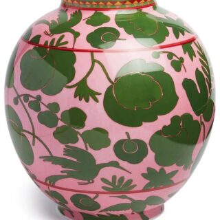 """Where's the """"wish list"""" button on this thing? Can barely contain ourselves! 😉   A splurge yes, and this porcelain, 18K gold trimmed Wildbird Bubble Vase by @ladoublej and @ancapporcelain is obvi perfect for filling with your fave seasonal blooms, and stunning as is! We 💖 the lively, pink and green print! 💚   About @ladoublej: Conceived by @jjmartinmilan, an LA born, Milan based former fashion editor, this groovy lifestyle label is rooted in her love for maximalism, rare vintage design, wild prints and a joyful ethos.  If you love it, you can visit it and more in our shop (link in bio.) Thanks for FOLLOWING @theflowry for best in bloomcraft for people, spaces and occasions.   #ladoublej #italiandesign #madeinitaly #luxury #amazing #preppychic #pinkandgreen #floralprints #floralpattern #floralchic #floralfinds #flourish #homedecor #homedesign #homestyle #home #design #style #lifestyle #interiordesign #interiors #inspiration #interiorstyling #interiorinspo  #instahome #instadecor #instagood #bloombeam #theflowry"""