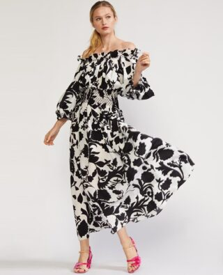 Change is inevitable, within reach, and in the air.   Here's the perfect dress. Maren Off Shoulder by @cynthiarowley.  In the shop (link in bio). 👆   Why we l o v e it:  🖤 Puff sleeves can be worn on or off shoulders.  🖤 Universally flattering black & white floral print. 🖤 Voluminous maxi, comfy cinched waist. 🖤 Dress up or down. 🖤 Produced in limited quantities to avoid excess inventory.  🖤 100% silk.   The Flowry connects flower lovers with eco-conscious florists prioritizing American grown, seasonal flowers and & sustainable design practices. Plus, a curated marketplace of floral fashion, home decor, art, gifts and more.   Visit our website for your next floral giving occasion. *Reminder that we earn a small commission on every item purchased through our shop.   #hellofall #cynthiarowley #floralfriday #fashionfriday #fallfashion #fashionable #transitional #blackandwhite #floralfashion #floralstyle #floralthings #floralchic #floralprint #floralphile #alltheprettyflorals #loveflowers #flowerpower #wardrobeedit #fashionstatement #fashiongram #dailylooks #outfitoftheday #ootd #flowerista #bloombeam #theflowry 