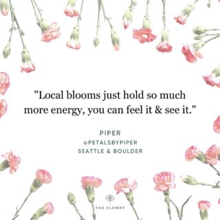A casual scroll through our feed daily, this couldn't be more true. 💃   We can see it on the faces of #flowerfarmers, #floraldesigners & their clients, the recipients of these beautiful blooms.  There is something about #localflowers that doesn't compare to conventional & imported - whether it's the spirit of the grower who cultivated & harvested them, or the thoughtfulness of the designer who arranged every stem, they feel & look different. There's a sparkle, a glint, a spunk - and once you get a taste, going back doesn't feel quite right...  Fall solstice is two days away. The air is changing. The blooms are changing. Even The Bloomlist is changing! 🎉   The Flowry wants to make it easy for flower lovers to connect with eco-conscious florists who prioritize American grown, seasonal flowers & sustainable design practices for their deliveries, weddings & sympathy arrangements & installs.   Our floral community cares deeply about its impact on the Earth & leaving it healthy for future generations to enjoy. Watch this space for updates, including how florists can join our flourishing community.  We want to be part of the change in how flowers are consumed, even as supplies wane in certain parts of the US. Here's to starting somewhere:  🌻 Shop local. Know where your flowers bloom. 🤔 🌻 Request #nofloralfoam. Stuff is gross. 🤢  🌻 Forego the plastic wrap, flowers look good #naked.  Shop The Bloomlist (link in bio), we've done the work for you. Plus, find a curated marketplace of floral fashion, home decor, art, gifts and more for every floral giving occasion.   Enjoy your Monday, #floweristas. 💛   PS. Scroll 👉🏻 for the #throwback blooms by @petalsbypiper that inspired this post. 🙏   #mondaymotivation #mantramonday #musings #quotes #empowerment #sayings #petalsofwisdom #flowers #afloweraday #flowersalways #seasonalflowers #sustainabledesign #slowliving #earthfriendly #ecoconscious #postivevibes #positivity #wordstoliveby #thegoodquote #qotd #911memorial mondayblooms #bloomb